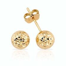14k Solid Yellow Gold Pierced Ball Bead Stud Earrings Piercing