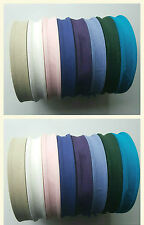 8 X 50 METER COTTON BIAS BINDING TAPE 25MM (1 INCH) IN  VARIOUS COLOURS FREE P&P