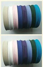 8 X Cinta de Unión de sesgo de algodón de 50 metros 25MM (1 pulgadas) en Varios Colores Libre P&P