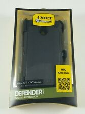 New HTC One mini Otterbox Defender Series Cell Phone Smartphone Case with Clip