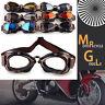 1x Vintage Retro Motorcycle Helmet Aviator Pilot Goggles Flying Glasses Eyewear