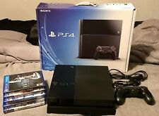 Sony Playstation 4 PS4 500GB Black Console w/Controller,  5 Games and Original B