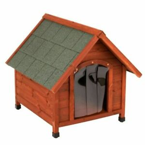 All Seasons Dog Kennel Wood Small Sturdy Pitched Roof Protect from Cold Damp