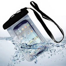 FUNDA BOLSA UNIVERSAL IMPERMEABLE SUMERGIBLE MOVIL WATERPROOF BRAZALETE HASTA 6""