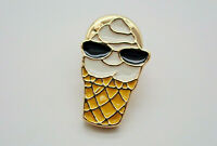Ice Cream Cone Wearing Sunglasses Vintage Lapel Pin