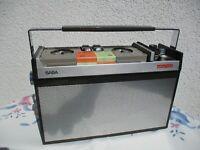 SABAMOBIL mit 3 Originalkassetten, Kassettengerät, Tonbandgerät,  Radio, TOP!!!