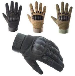 Tactical Knuckle Full Finger Gloves For Army Military Airsoft Paintball Shooting