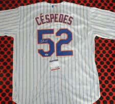 YOENIS CESPEDES AUTOGRAPHED SIGNED METS MLB BASEBALL JERSEY WITH COA NEW YORK