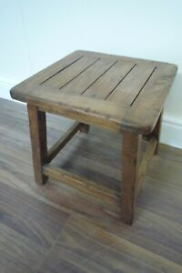 Handmade Milking Stool Made From Solid Hardwood - Small