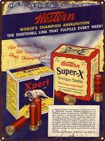 "1935 WESTERN Super-X Shotgun Shells .22 Ammunition Metal Sign Repro 9x12/"" 60423"