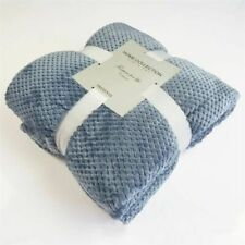 Flannel Fleece Throw Blanket Soft Travel Blanket Solid  Bedspread Plush Cover