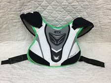 STX Cell 100 Lacrosse Shoulder Pads- Size Medium Green Grey White Black