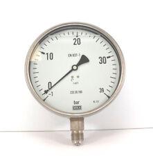 """WIKA Manometer Glycerin Ø160mm -1 bis 39 bar 1/2"""" senkrecht 233.50.160 Edelstahl"""