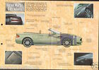 Aston Martin DB9 Volante Cabriolet V12 United Kingdom 2004 Car Auto FICHE FRANCE