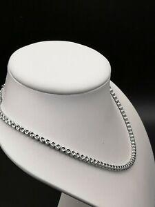 Sehr schönes  Tennis Collier, 585 Weiß Gold, 42 cm, 31,7g, mit 108 Brillanten