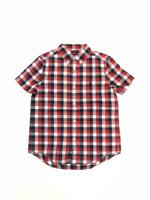 Polo Ralph Lauren Boys' Check Cotton Poplin Short Sleeve Shirt Red White Navy