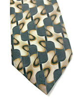 "Ivy Crew NWOT Men's Black/Ivory Necktie Geometric Tie 100% Silk W 3.75"" L 58"""