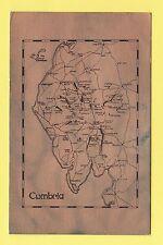 MAP  -  MAX  ART  PRODUCTS  POSTCARD  -  CUMBRIA  -  C 1977