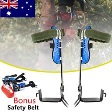 2 Gear Tree Climbing Spike Set Safety Climbing Harness Belt Adjustable Lanyard