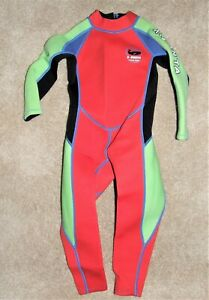 Kid's Size Medium X- Manta Neoprene Wetsuit One Piece Long Sleeve Diving Suit