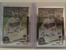 JOSMIL PINTO, 2014 Topps Chrome On-Card Auto RC Atomic Refractor 5/10 +base Auto