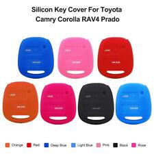 2 Buttons Silicon Case Key Cover Remote Fob For Toyota Camry Corolla RAV4 Prado