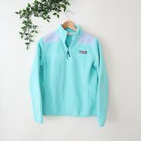 Vineyard Vines Women's 1/4 Zip Fleece Pullover Sweater XS Extra Small Mint Green
