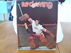 DETROIT RED WINGS HOCKEY PROGRAM 1973 DETROIT VS ST LOUIS