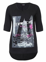 New Yors Clothing plus size 16 18 black t-shirt top New York