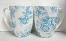 ND EXCLUSIVE BLUE AND OFF WHITE COFFE TEA MUGS SHIPS FAST