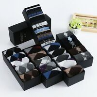 5 Pairs Mens Warm & Soft Comfort Wool Cashmere Dress Sock Winter Thick Socks New