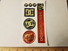 VTG 90's DC SHOES CO US DROORS  PUFFY SNOWBOARD BMX SKATEBOARD DECK STICKER LOT