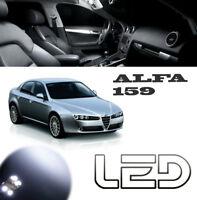 ALFA Romeo 159 13 Ampoules Led Blanc Eclairage Habitacle plafonnier Coffre Porte