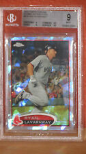 2012 Topps Chrome Ryan Lavarnway Atomic Refractor Card BGS 9.
