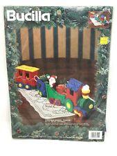 NEW Bucilla Felt Applique Christmas Express 3D Train Set Kit 83215 SEALED 1994