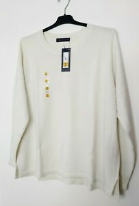 M&S SIZE 24 JUMPER ROUND NECK SOFT TOUCH WINTER WHITE NEW MARKS AND SPENCER