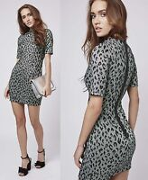 TOPSHOP PETITE Leopard Print Bodycon Party Going Out Dress ***NEW in***