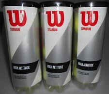 Wilson Titanium High Altitude Tennis Ball 3 Cans 9 balls total New Sealed