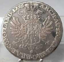 1/2 Kronentaler 1756, Maria Theresia, Antwerpen, Silber