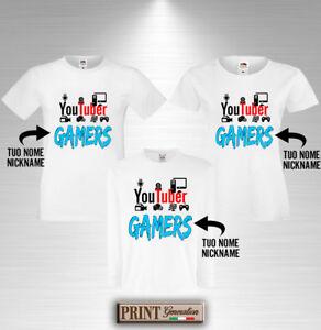 T-Shirt Youtuber Avec Nom Personnalisé T-Shirt Idée Cadeau Vidéo Web Gamer