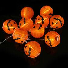 solar powered 10 led 16ft pumpkin string lights 3d halloween home