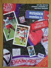 Rushden & Diamonds v Leyton Orient 1997/98 friendly programme