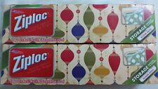 30 Ziploc Limited Edition Holiday Slider Storage Gallon Tinted New Bags 2 Boxes