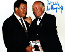 Sir Henry COOPER SIGNED 10x8 Photo with Muhammad Ali AFTAL COA Boxing Champion
