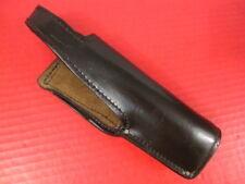 Black Leather Belt Holster for the Beretta Model 92F 92FS Pistol - XLNT