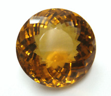 UNUSUAL 10mm ROUND-FACET NATURAL BRAZILIAN MADEIRA CITRINE GEMSTONE