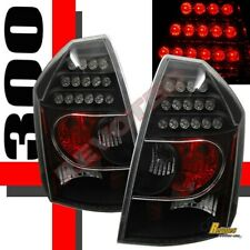 05 06 07 Chrysler 300-C 300-C 300C SRT-8 Black LED Tail Lights Lamps RH & LH