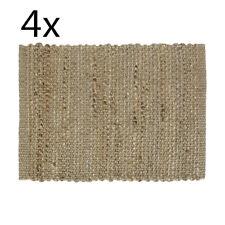 4x Rectangular Woven Jute Placemat Place Mat Home Kitchen Decor Natural Brown