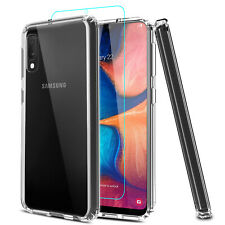 For Samsung Galaxy A10e A01 A20 A21 A50 A71 5G Clear Case/Glass Screen Protector