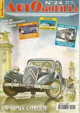 AUTOMOBILIA 24 CITROEN TRACTION 15 SIX PEUGEOT 203 FORD COMETE ROBERT BENOIST